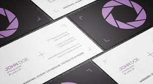 Minimal Design Business Cards Free Photography Business Card Templates