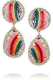 clip on earrings accessorize shourouk rainbow sequin earrings accessorize to