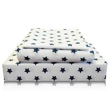 Twin Sheet Set Johnson Home Kids Twin Double 200tc Egyptian Sheet Set In Blue Stars