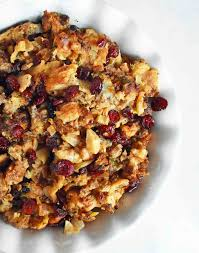 cranberry side dish thanksgiving cranberry apple sausage stuffing modern honey