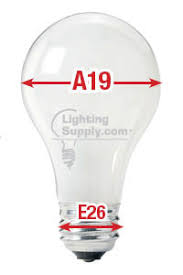a19 bulb vs e26 bulb what u0027s the difference lighting supply