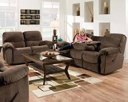 Rustic Laminate Wood Flooring Furniture Elegant Brown Wall Hugger Recliner With End Table On