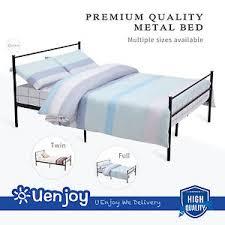 twin full queen size metal bed frame platform headboards 6 leg