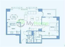 Sobha Jasmine Floor Plan 1 Bedroom Apartment For Sale In Marina Promenade Aurora Marina