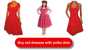 red dress with white polka dots u2013 plus size for women koesso com
