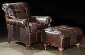 furniture leather club chair and ottoman upholstered accent
