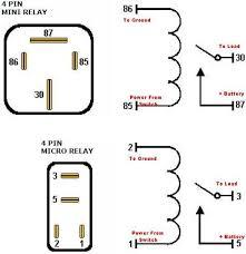 4 pole relay wiring diagram diagram wiring diagrams for diy car