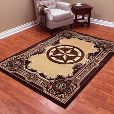 southwest area rugs donnieann traditions western star chocolate polypropylene area rug