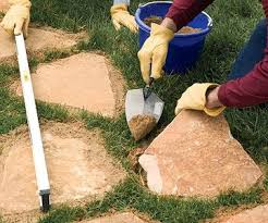 How To Make A Rock Patio by Best 25 Stone Paths Ideas On Pinterest Rock Path Mosaic