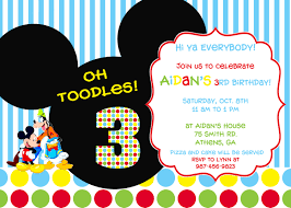 mickey mouse party invitations marialonghi com
