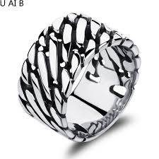 thumb rings for men personalized big wide ring large platemale thumb rings men jewelry