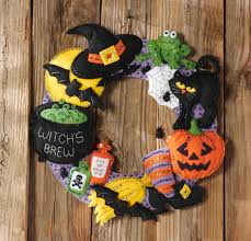 bucilla witch s brew wreath felt applique kit 86563