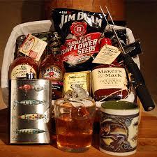 fishing gift basket tasteofbourbon bourbon gift baskets for all occasions bourbon