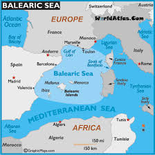 map world seas map of balearic sea balearic sea location world seas balearic
