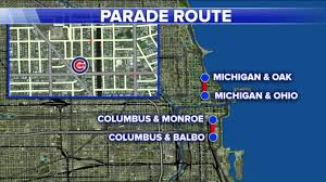 thanksgiving day parade map chicago cubs celebrations to begin at 10 a m today wgn tv