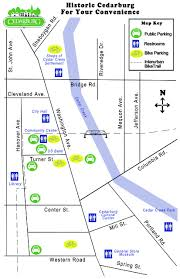 Wisconsin City Map by Map With Parking And Restrooms City Of Cedarburg