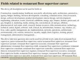 Supervisor Job Resume by 100 Restaurant Job Resume Assistant Restaurant Manager