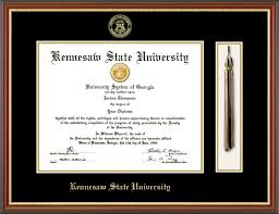diploma frames with tassel holder kennesaw state diploma frames church hill classics