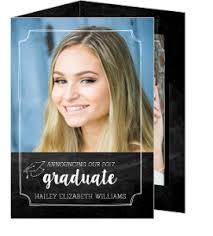 tri fold graduation announcements tri fold graduation announcements and invitations