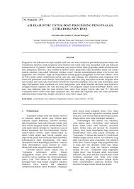 aplikasi dtmc untuk post processing pengenalan citra dokumen teks