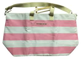 victoria secret tote bag black friday victoria u0027s secret white signature stripe overnight handbag pink