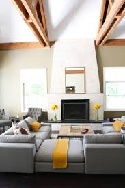 grey and yellow living room design u2013 modern house