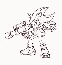 coloring pages shadow the hedgehog coloring page mycoloring free