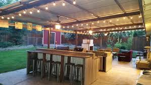 outdoor kitchen roof ideas corrugated metal roof back patio with outdoor kitchen and
