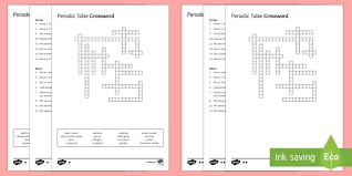 what ability did the periodic table have lower ability ks3 periodic table crossword