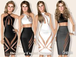 cleotopia u0027s designer cutout pencil dresses