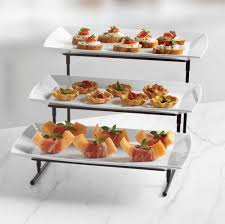 3 tier server tray appetizer wedding cupcake buffet party dessert