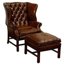 Leather Wingback Chair With Ottoman Design Ideas Wing Chairs With Ottoman Design Ideas Eftag