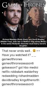 Game Of Thrones Red Wedding Meme - game of thrones eganeofthronesfacts instagram richard madden robb