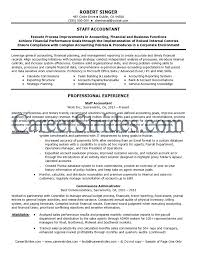 staff accountant resume senior staff accountant resume sle template objective career