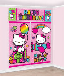 hello kitty rainbow scene setter 6ft party supplies canada