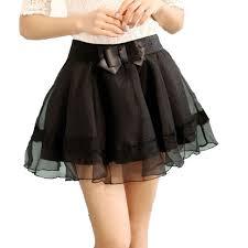 2017 fashion bowknot female skirts korean edition organza