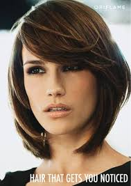 brunette hairstyles wiyh swept away bangs heavy side bangs layered bob hair did pinterest heavy side