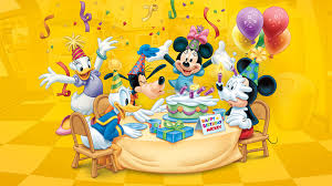 happy birthday mickey celebration birthday cake balloon candles
