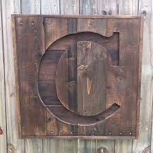 pallet letter sign recycled pallet initial c sign wooden letter