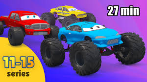 monster truck cartoon videos monster truck for children cartoon compilation monster truck