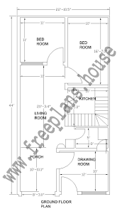 22x44 feet house plan plans pinterest square meter house