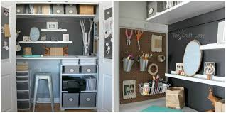 small office organizing ideas closet office makeover