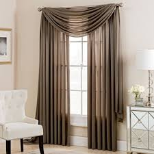 Window Scarf Valance Holders Buy Brown Valances For Windows From Bed Bath U0026 Beyond