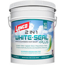 Sta Kool Elastomeric Roof Coating by Lanco 5 Gal White Seal Plus Rc886 2 The Home Depot