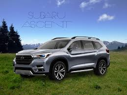 subaru suv concept performance subaru the subaru ascent suv concept with 3rd row