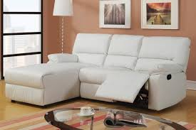 Sofa With Chaise And Recliner by Living Room Heavenly Reclining Sofa Chaise Black Color Small