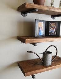 Thick Wood Floating Shelves by Set Of 3 10 Deep Floating Shelves Combo Wood