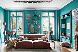 BlueGreen Painted Room Inspiration Photos Architectural Digest - Teal living room decorating ideas