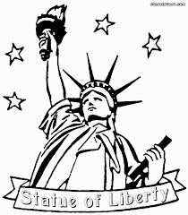 vibrant ideas statue of liberty coloring pages kids printable