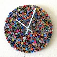 home decor made from recycled materials wall clock eco home decor as seen in vogue home and living